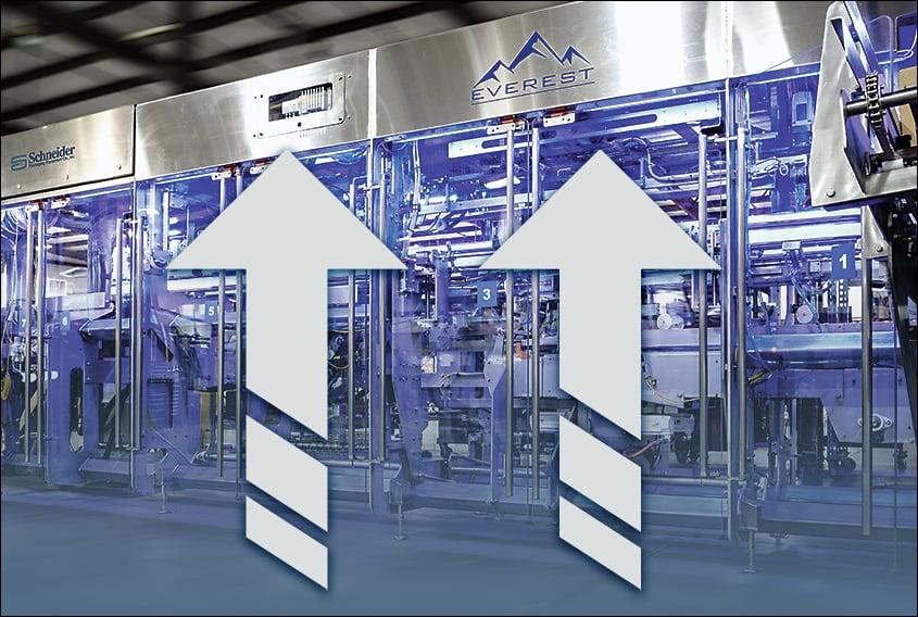 Schneider vertical bottom loading case packer